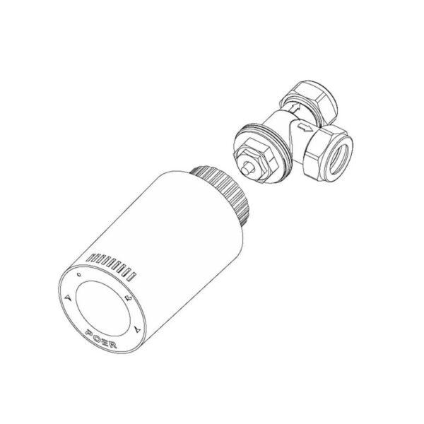 Cap robinet termostatic Poer Smart cu comenzi vocale Google Home si Alexa