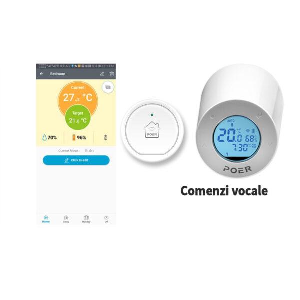 Robinet inteligent radiator Poer Smart cu comenzi vocale Google Home si Alexa