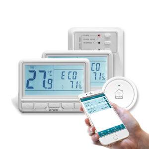Termostat Poer Smart - pachet doua zone termostat poer smart Pachet doua zone – Termostat POER Smart cu control vocal Google Home si Alexa prin internet termostat poer smart pachet doua zone 01 300x300