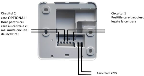 Termostat wifi - Cablaj Receptor  Termostat wifi – Montaj Receptor cablaj 600x318