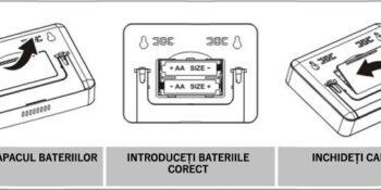 Instalare baterii termostat ambient Poer Smart  Home instalare baterii termostat wireless internet 01 350x175