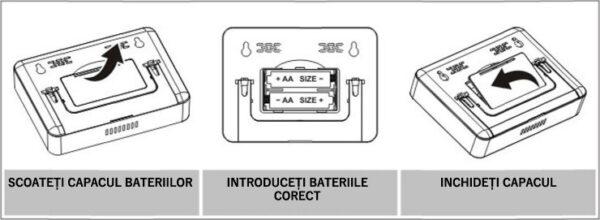 Instalare baterii termostat ambient Poer Smart instalare baterii termostat wireless internet 01 600x220