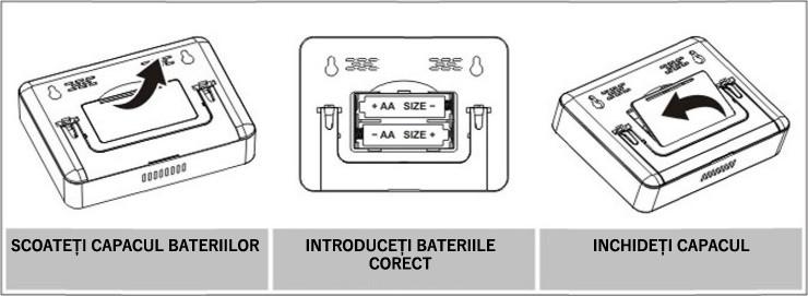 Instalare baterii termostat ambient Poer Smart  Instalare baterii termostat ambient Poer Smart instalare baterii termostat wireless internet 01
