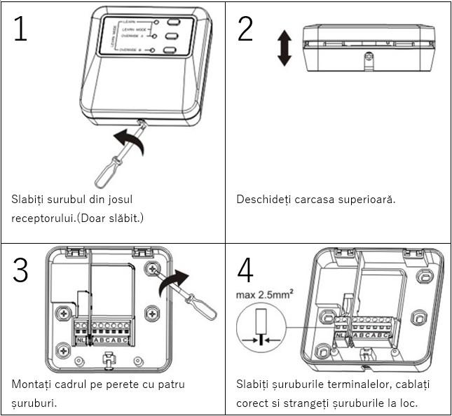 Termostat wifi - Montaj Receptor  Termostat wireless Poer Smart – montaj Receptor termostat wifi montaj receptor