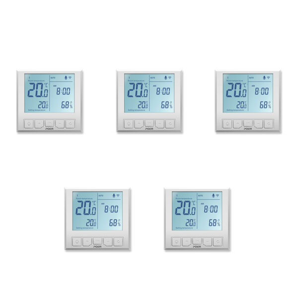 Pachet 5 termostatate inteligente de pardoseala POER Smart