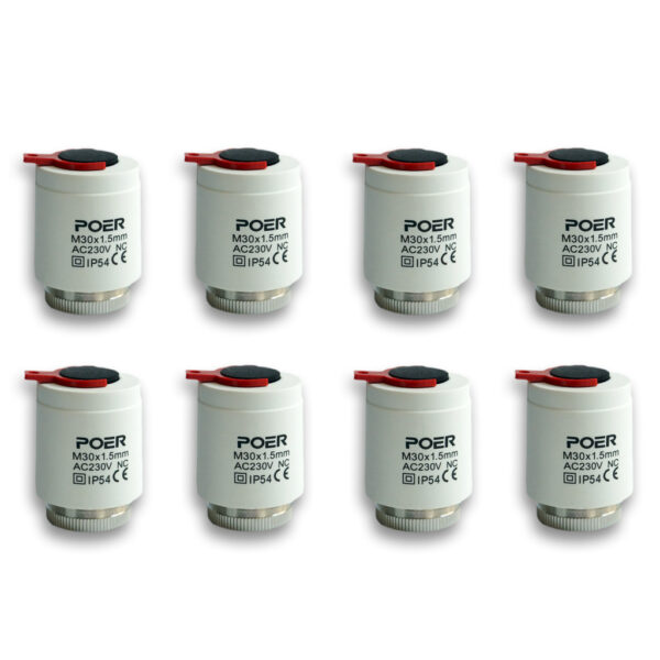 Actuatori termici Poer Smart Pachet 5