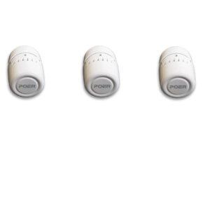 Capete termostatice de calorifer Poer Smart - Pachet 3